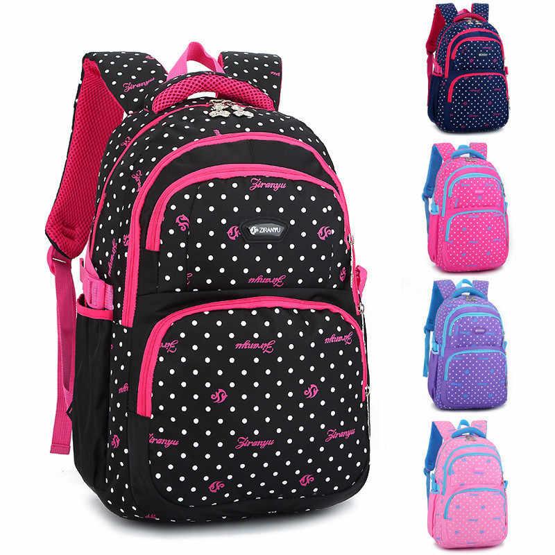 Большие школьные сумки рюкзак Школьный Модные Детские рюкзаки в горошек с принтом для детей подростков девочек школьников Mochila
