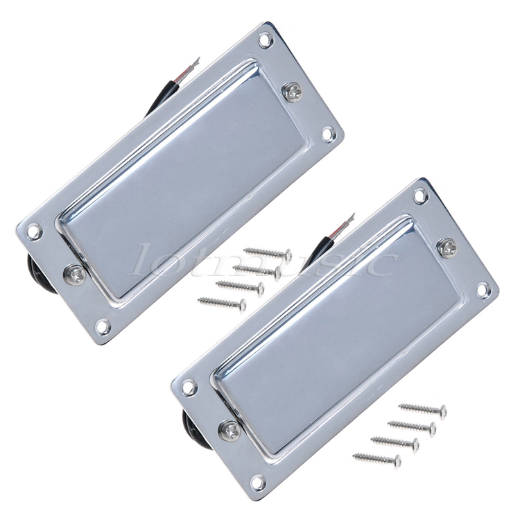 2Pcs Chrome Belcat Ferrite Pickup Humbucker Pickup Double Coil Pickup For Electric Guitar Replacement belcat electric guitar pickups humbucker alnico 5 humbucking bridge neck chrome double coil pickup guitar parts accessories