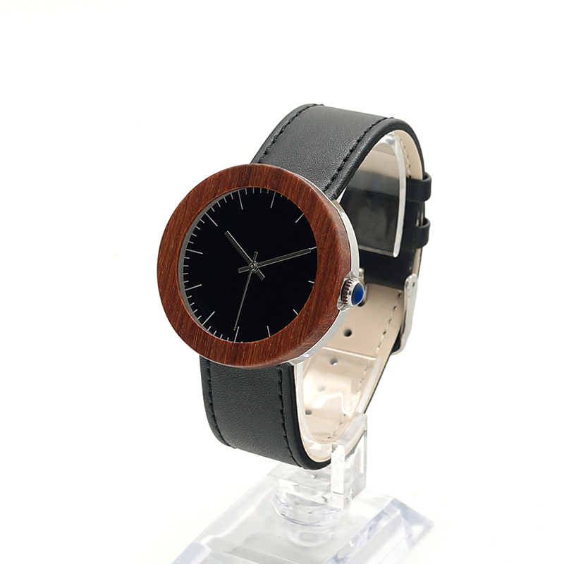 BOBO BIRD J01 Classic Women s Bamboo Wood Watch Black Dial Analog Display Wrist Watch with