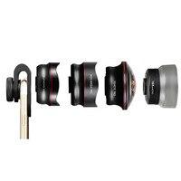 Nulaxy 4 in 1 Phone camera Lens Kit Fisheye Wide Angle macro Lens Super Fisheye pro Telephoto lens For Smartphone Microscope