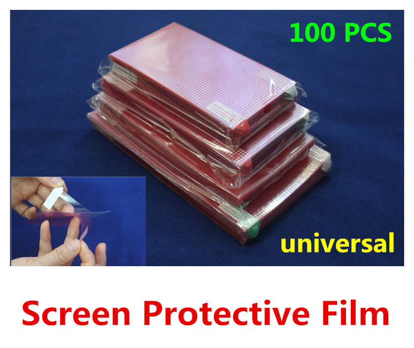 100PCS universal LCD screen protector screen protective film screen guard for mobile phone, GPS naviagrtor, tablet pc, PDA, MP5