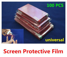 100PCS universal LCD screen protector screen protective film screen guard for mobile phone, GPS naviagrtor, tablet pc, PDA, MP5(China)