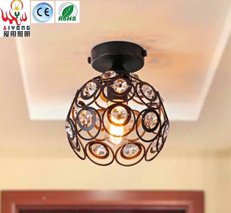 Such American iron crystal ceiling lamps, aisle lights small entrance hallway bathroom balcony ceiling lamps crystal pendant lights aisle lighting small lamps lights modern ceiling balcony lamp led lamps small entrance hall