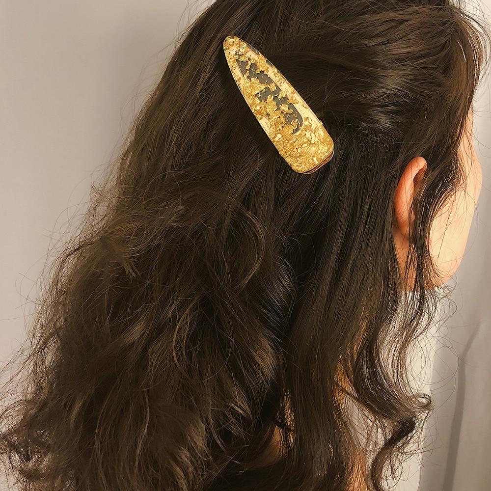 OLOEY Novas Mulheres Meninas Grampos de Cabelo Grampos de Cabelo Da Moda Simples Bonito Feminino Geométrica Jóias Cabelo Acessórios Big Drop-Shaped Hairpin