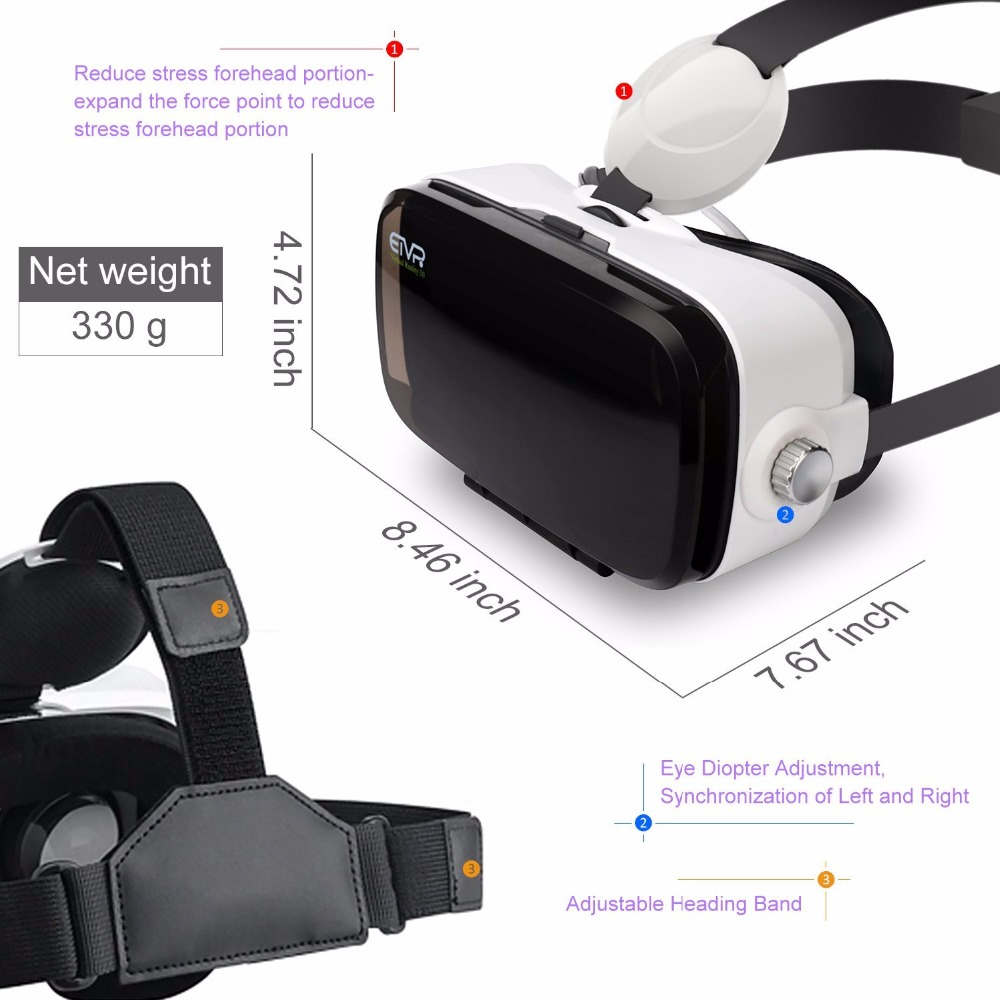 ETVR Z4 Min VR Box i 3D Virtual Həqiqət 4.7-6.2 Smartfon + Gamepad - Portativ audio və video - Fotoqrafiya 5