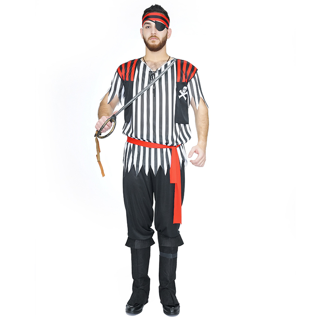 2017 new men caribbean pirate sailor cosplay costume adult fancy party classic full male set halloween - Halloween Store New Jersey