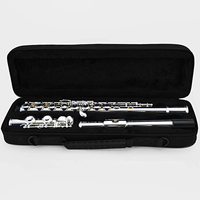 Flute C Tune 16 Keys Holes Open Flute Silver Plated With Case E Mechanism Flauta