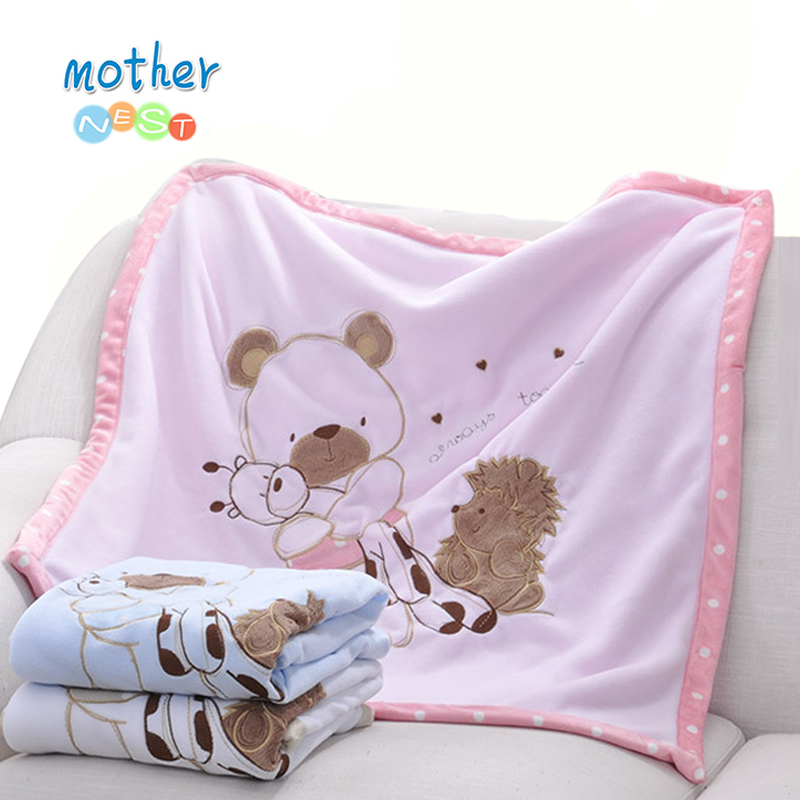 2018 Soft Fleece Baby Blanket Winter Cartoon Pattern Newborn Swaddle Wrap Blanket & Swaddling Baby Bedding 2018 new arrived newborn body moon pleated cushion portable infantile cartoon pattern warn and soft 100