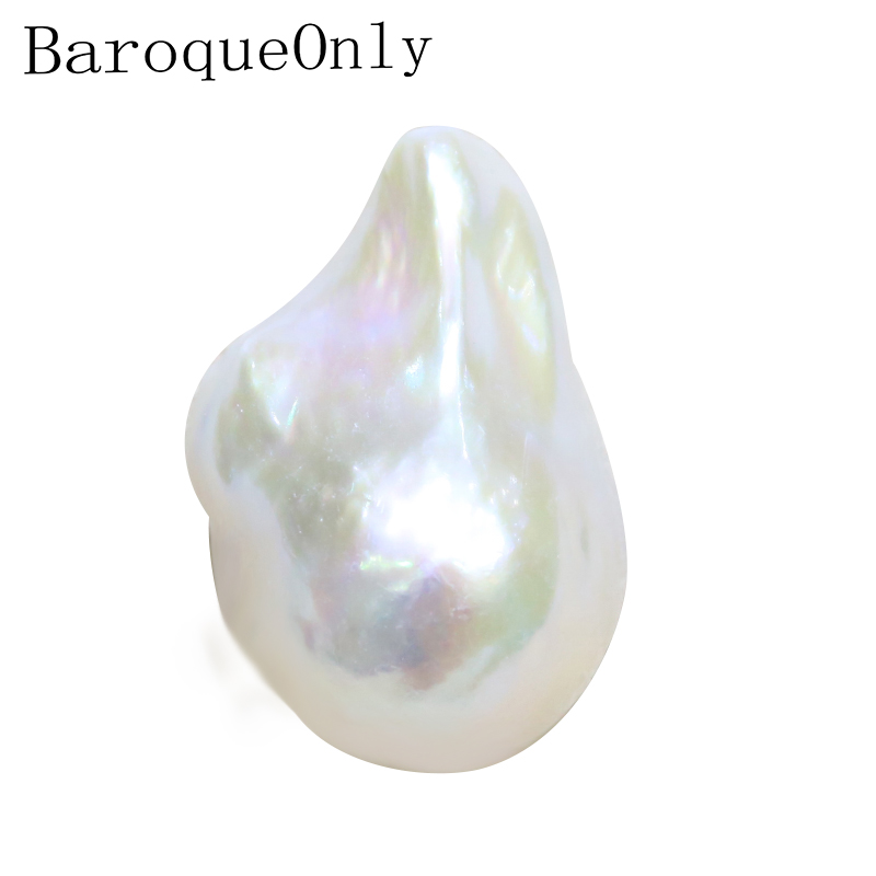 BaroqueOnly white Natural Freshwater plump Baroque Pearls, Naked Bead For DIY PENDANT NECKLACE/drop earrings Making BZN
