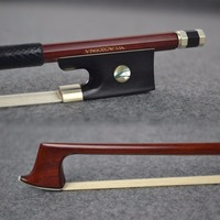 920V 4/4 Size Master Pernambuco VIOLIN BOW Ebony Frog Nickel Silver Mounted Natural White Horsehair Violin Parts Accessories