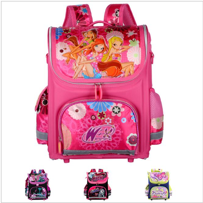 Orthopedic Children School Bags For Girls New 2016 Kids Backpack Monster High WINX Book Bag Princess Schoolbags Mochila Escolar hot sale 10 style winx club backpack girls mochila escolar children school bag customized mochilas mujer kids free shipping b002