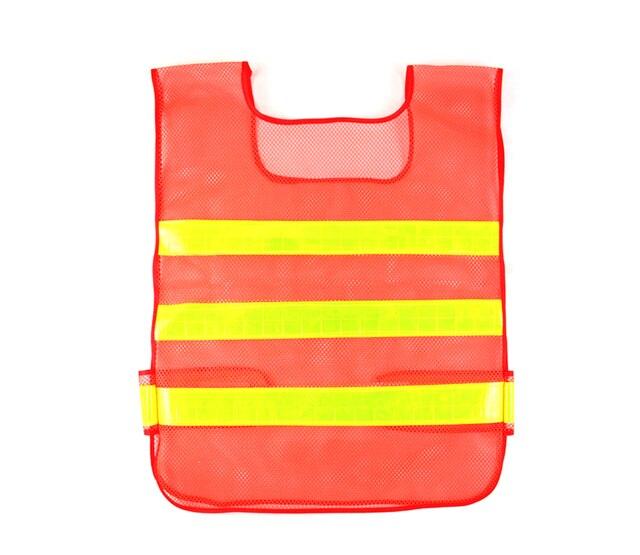 Trabajo nocturno fluorescente de alta visibilidad Chaleco Reflectante de seguridad ropa de seguridad reflectante cnss chaleco de Seguridad de malla a prueba de agua