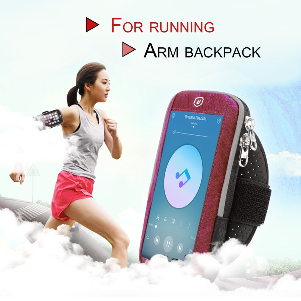 Men Women Running Bags Touch Screen Cell Phone Arms Bag Waterproof Nylon Bag Sports Equipment Jogging Run Bag For phone