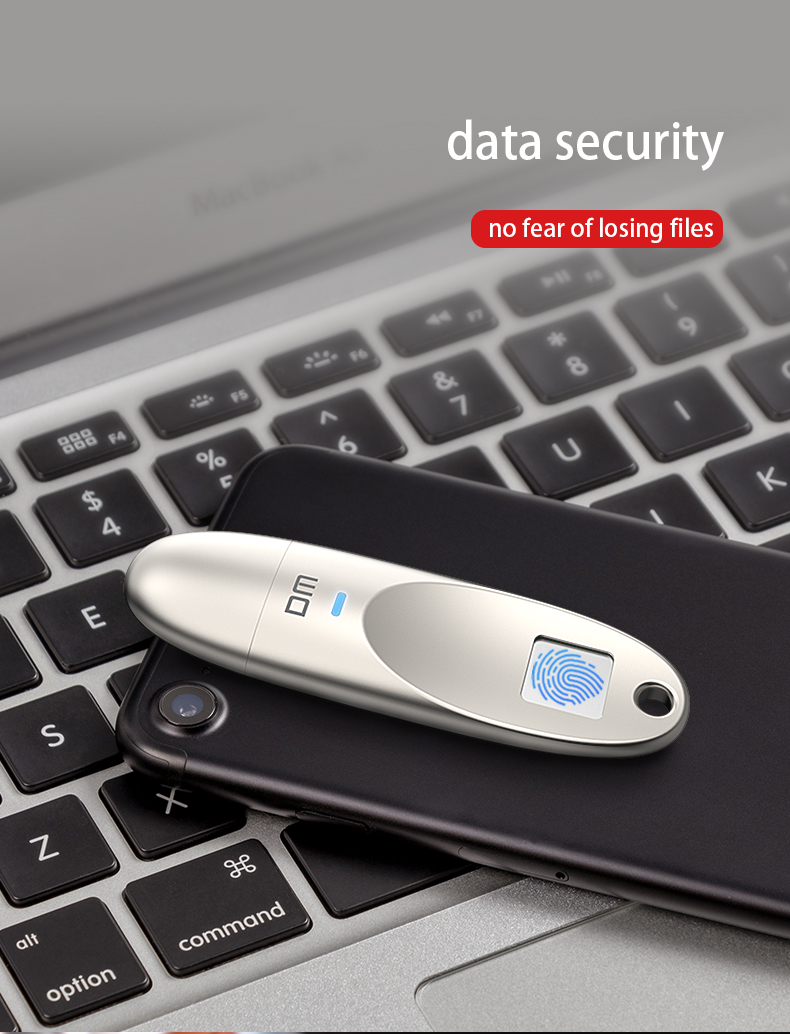 PD062 Fingerprint Encryption USB 3.0 Flash Drive 32GB Metal High Speed