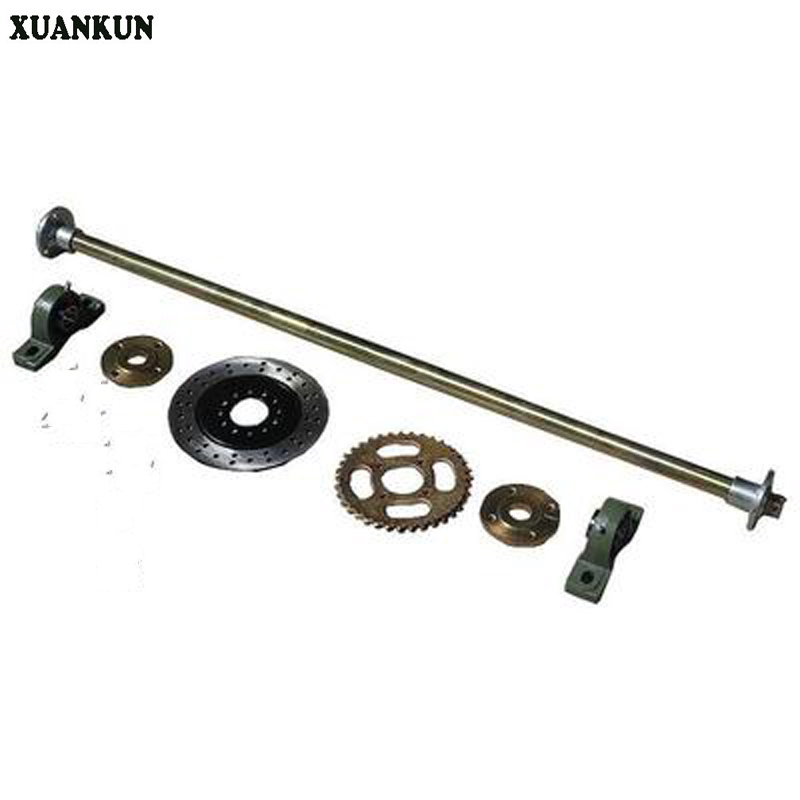 XUANKUN Three Rounds Of Four-Wheel Trailer Drift Karting Motorcycle Modified Rear Axle Rear Axle 1 Meter Long xuankun modified four wheel electric motorcycle self made karting accessories front suspension rocker steering brake system