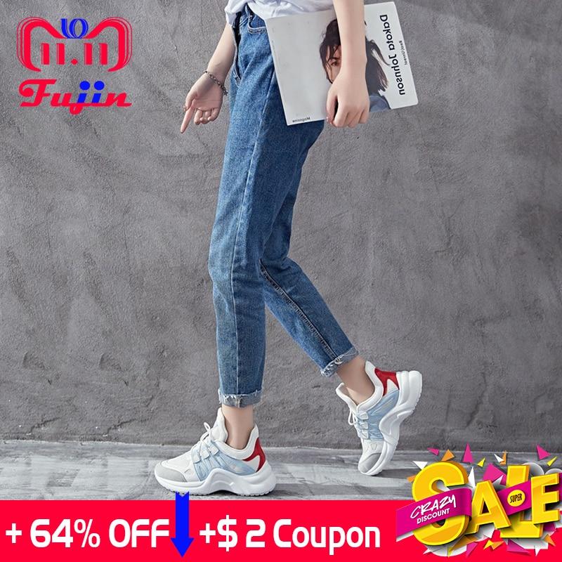 Fujin Brand 2018 Breathable Mesh Women Casual Shoes Vulcanize Female  Fashion Sneakers Lace Up High Leisure Footwears 11.11 b1922358d7de