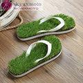 2016 New Imitation Grass Flip Flops For  Summer Beach Flip Flops Flat Shoe Out Sandals Slipper Women Sandalias Mujer
