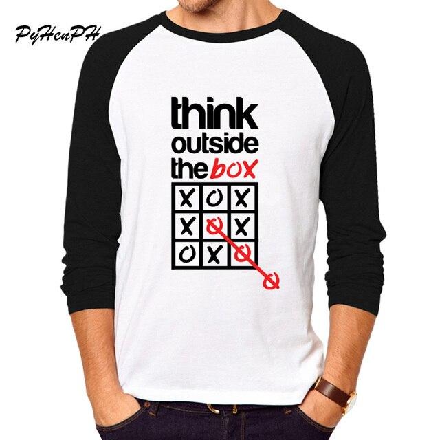Pensare Fuori Dagli Manica Lunga T-shirt Scatola MLJNTV4lv