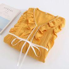 2019 Autumn Winter Nursing Pajamas Maternity Robe Set for Pregnant Women Sleepwear 2pcs ets pyjamas autumn