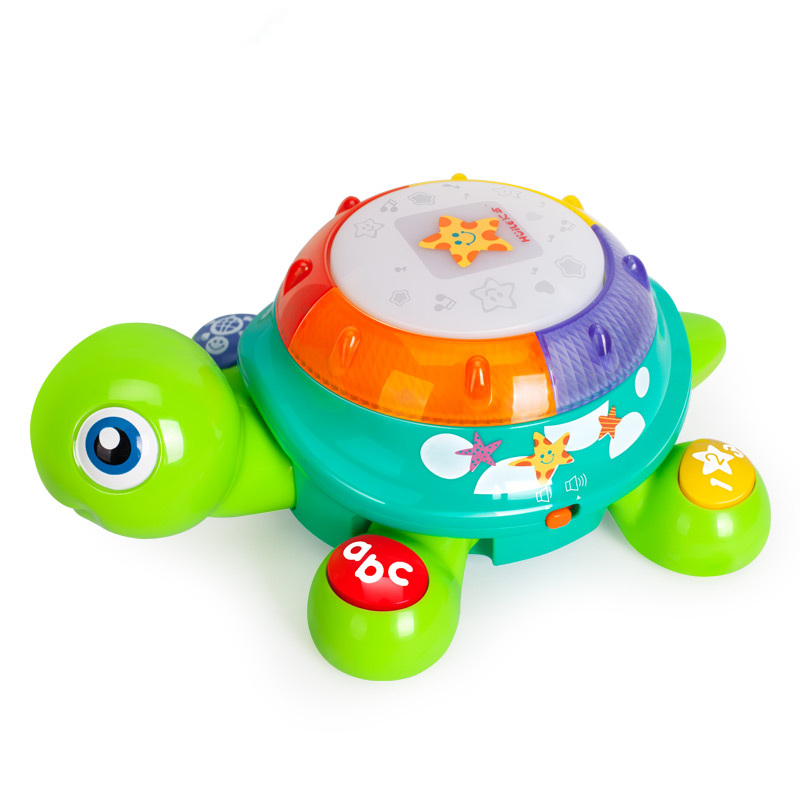 original box Electric Turtle Toy with Music & Light Early Educational Toys for Children electronic game interactive toys