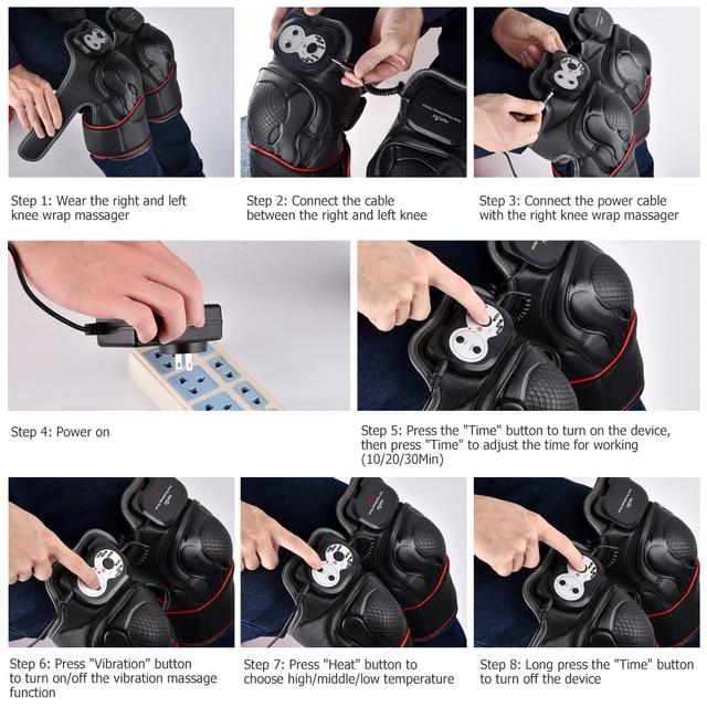 Knee Massage Machine Heated Physiotherapy Massage Joint Pain Treatment Arthritis