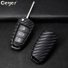 цена на Ceyes Car-Styling Auto Protection Key Shell Carbon Fiber Cover Case For Audi TT A7 A4 A4L 8S B9 Q5 A6L A5 A8 Q3 Q7 Accessories