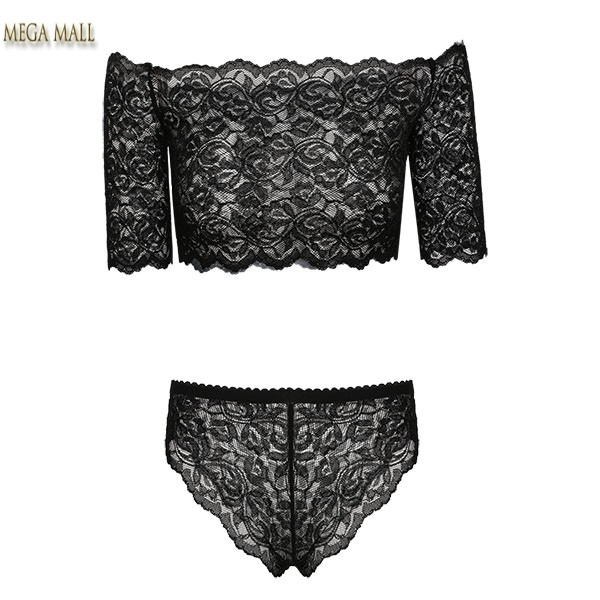 Hot Women Sexy Lingerie Lace Top + Underwear Babydoll Sleepwear Briefs Set  For Sleeping Womens Pyjamas Black Pigiama Intero BS40-in Pajama Sets from  ... f296fb286