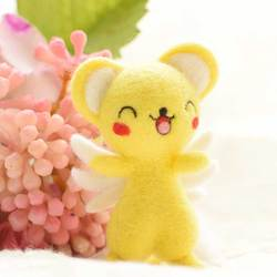 DIY Non Finish Lovely Cute Cartoon Wool Felt Craft Poked Handcraft Needle Wool Kits Material Bag Pack Doll For Girls