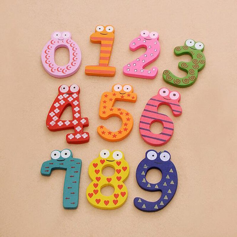 Image 2 - Wooden Digital Letter Fridge Magnets Children's Early Learning Educational Maths Toy Wooden Refrigerator fridge magnet stick-in Fridge Magnets from Home & Garden