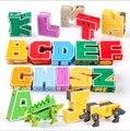 Английские буквы LegoINGs трансформатор Алфавит Робот животное творческие Обучающие фигурки строительные блоки подарочные модельные игрушки
