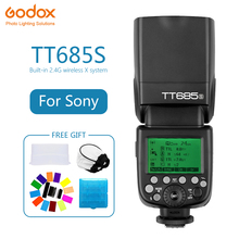 Godox TT685 TT685S Speedlite Flash Wireless TTL 2.4G HSS 1/8000s for sony A77II A7RII A7R A58 A9 Camera photography