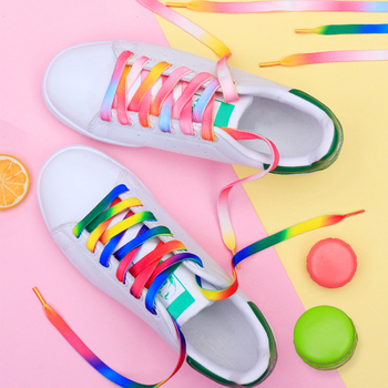 4 Pieces/2 Pairs Candy Color Shoelace for Sneakers Leisure Flat Shoes Sports Lace Beautiful Laces Shoelaces Off White Shoe Strap