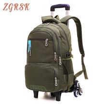 Kids Rolling Schoolbags Nylon Waterproof Backpack Boys Girls Children School Backpack Bag Wheels Travel Bag Luggage Backpacks все цены