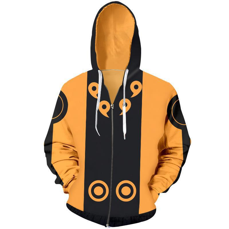 Japan Anime Naruto Costumes Akatsuki Sweatshirts Cosplay Anime game 3D printing jacket long sleeved zipper sweater in Movie TV costumes from Novelty Special Use