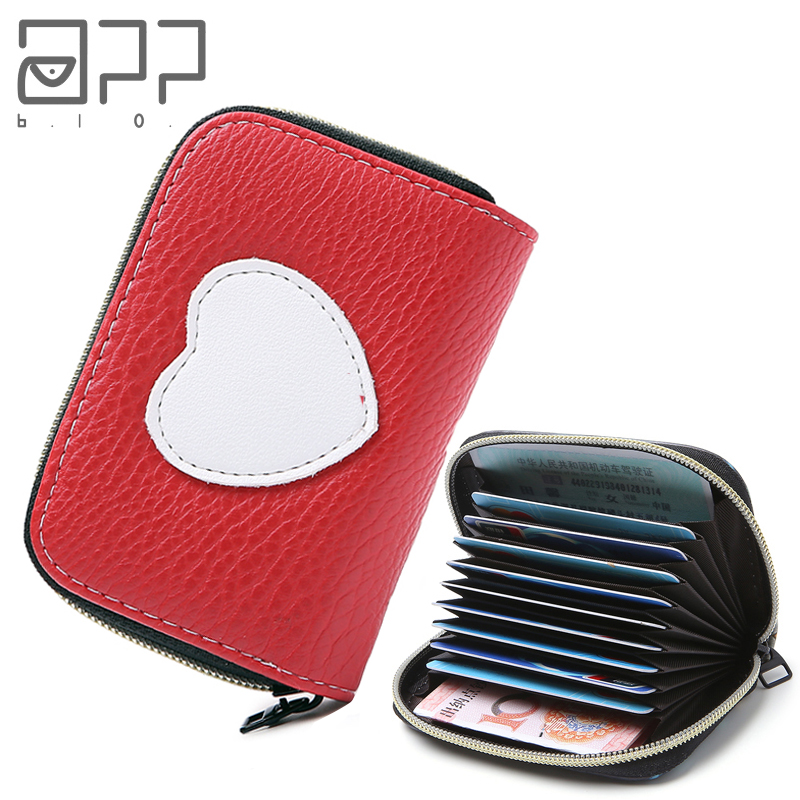 APP BLOG Cute Love Girl Women Card Bags 2019 New Arrive Zipper Credit ID Cards Holder Case Extendable Small Wallet Coin Purse