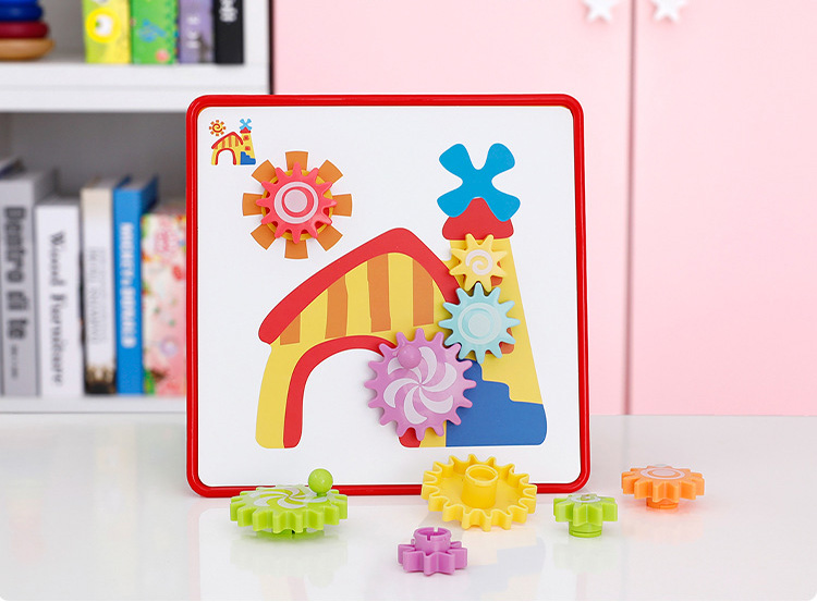 Baby Educational Toy Button Art Creative Mosaic Toy Nail Composite Picture Puzzle Mushroom Nail Kit geometry Toys Boy Girl gifts