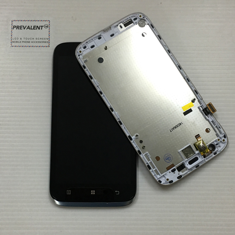 For Lenovo A859 Touch Screen Panel Digitizer Sensor Glass + LCD Display Monitor Panel Module Assembly + Frame Housing Bezel