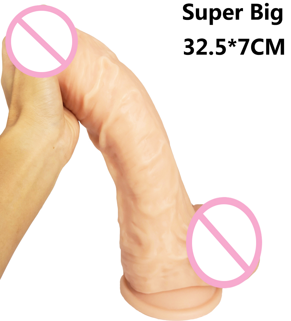 32.5*7CM Big Dildo Super huge Thick giant Dildos Sturdy Suction Cup realistic soft Penis Dick for Women Horse Dildo sex toy 32 5 7cm big dildo super huge thick giant dildos sturdy suction cup realistic soft penis dick for women horse dildo sex toy