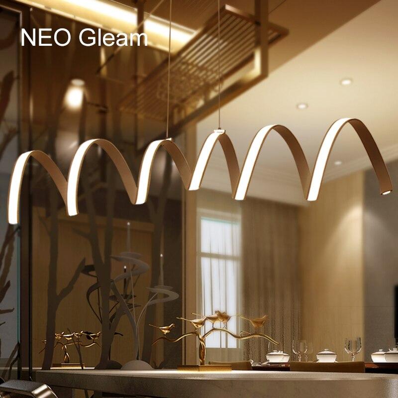 NEO Gleam L800 1000 1200mm Modern aluminum LED Chandelier light for dinning room bar study room