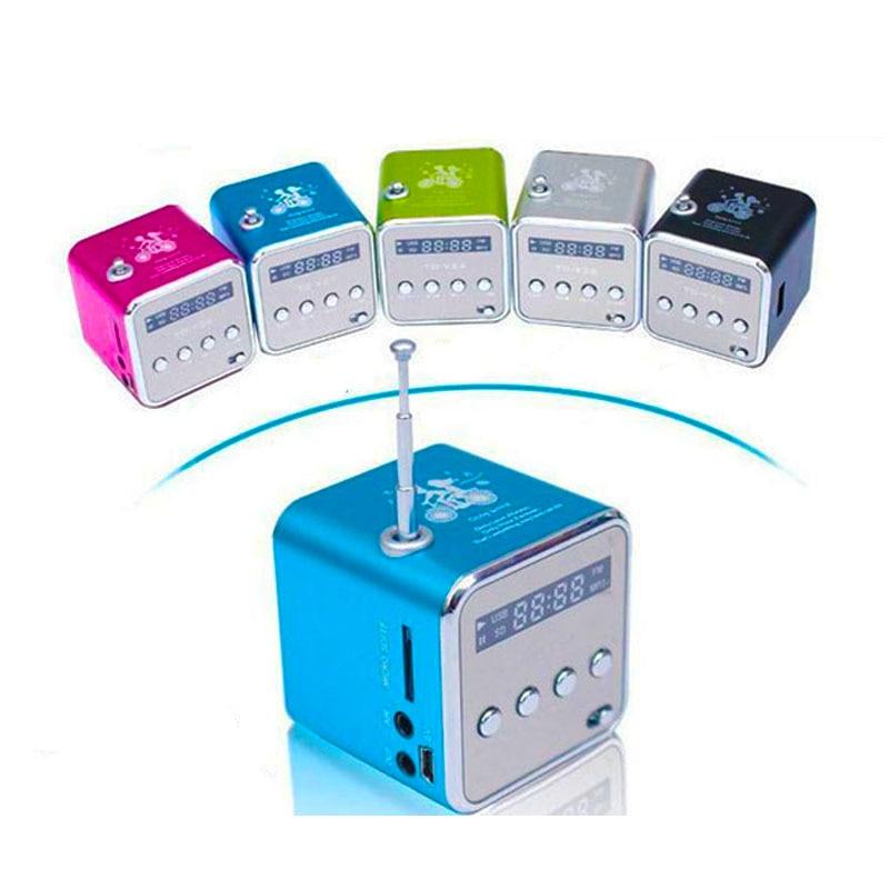 TD V26 speaker Portable Mini speaker Micro SD USB Music Player Digital FM Radio Stereo Bass