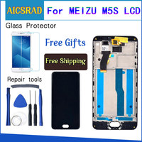 AICSRAD Per Meizu M5S Display LCD + Touch Screen + Strumenti Digitizer Assembly di Ricambio Per Meilan 5 5S Telefono