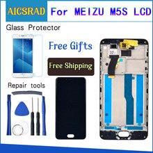 AICSRAD Per Meizu M5S Display LCD + Touch Screen + Strumenti Digitizer Assembly di Ricambio Per Meilan 5 5S Telefono