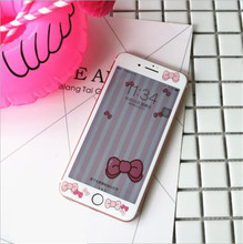 2016 hot Cartoon Front Tempered Glass Film for iPhone 6 6s 6 plus 7PLUS Screen Protector