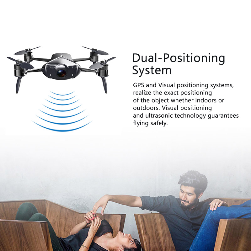 HIGH GEART Take Foldable Drone Portable Quadcopter FPV UAV App Operating HD Camera