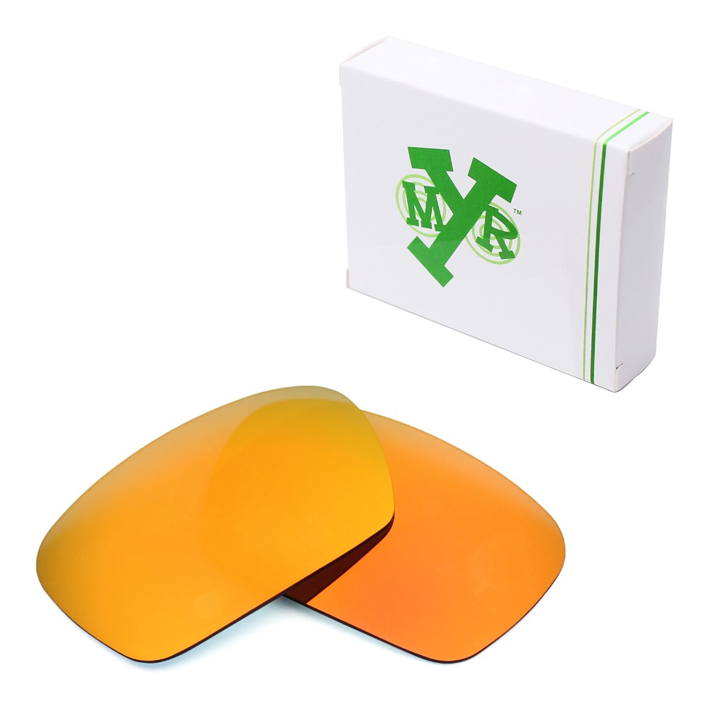 Mryok POLARIZED Replacement Lenses for Oakley Badman Sunglasses Fire Red