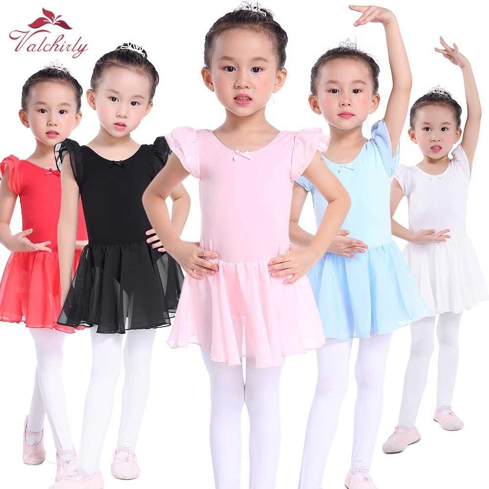 068b12614 2 9Y Children Lace Ballet Clothes Pink Blue unitard Leotard For ...
