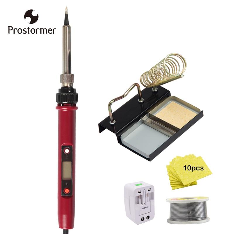 Prostormer 120 watt Elektrische Lötkolben Set Einstellbare Temperatur 180-480Degree Schweißen Solder Station Wärme Bleistift Reparatur Werkzeug