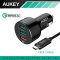Aukey Qualcomm Carga Rápida 3.0 Carregador Universal Carregador de Viagem Do Telefone 3x Carregador de Carro Adaptador de Porta USB Carregador Portátil