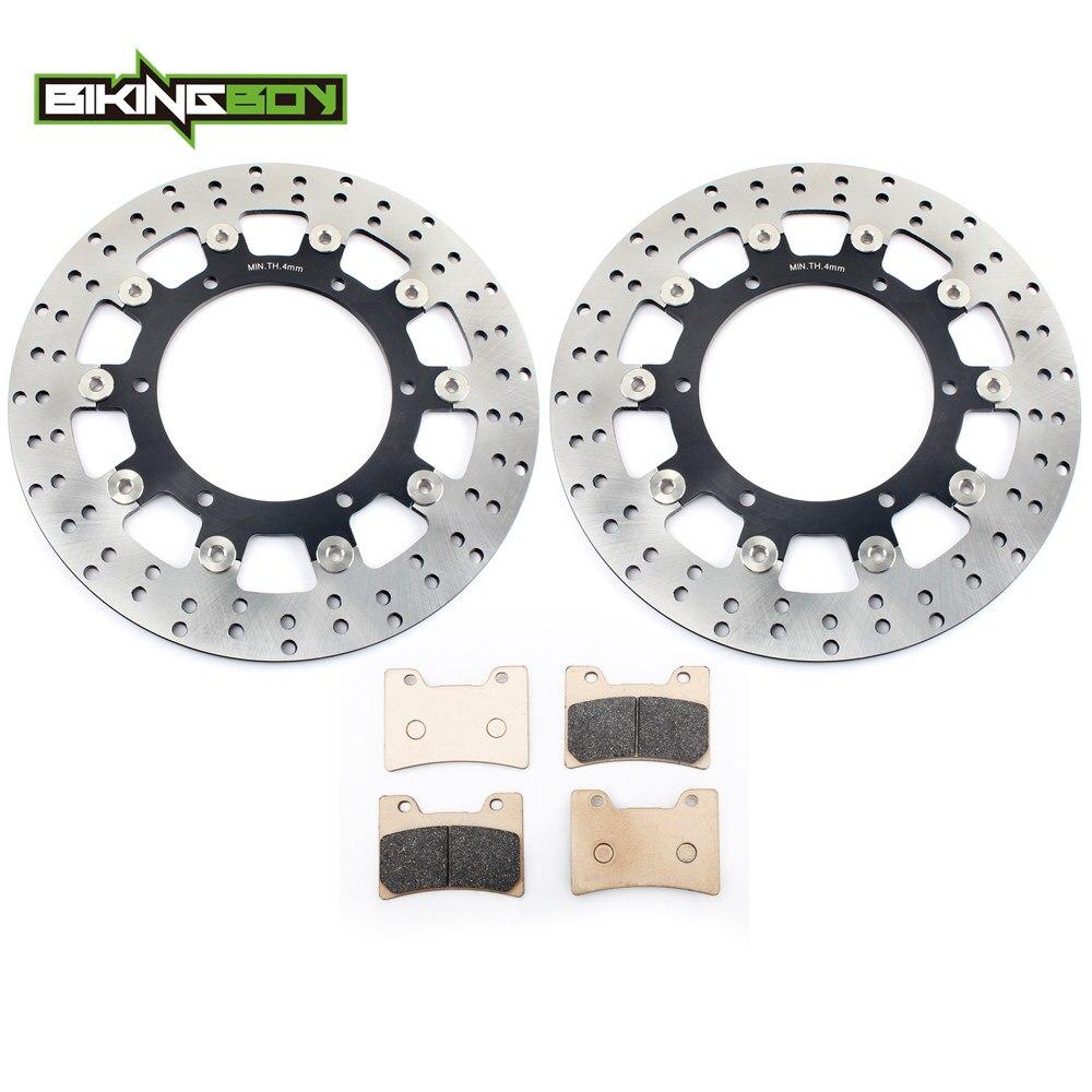 BIKINGBOY Front Brake Discs Rotors Disks Pads for Yamaha VMX12 V Max 1200 93 94 95