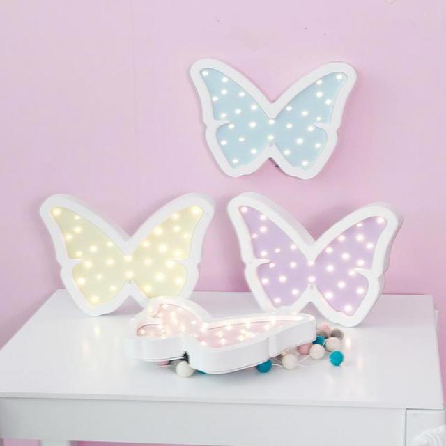Neuheit Led 3d Wandleuchte Power Kinder Lampe Schmetterling ...